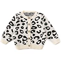 Miccina Baby Boys Girls Cable Knit Sweater Cardigan Unisex Cotton Christmas Button Tops for Autumn Winter