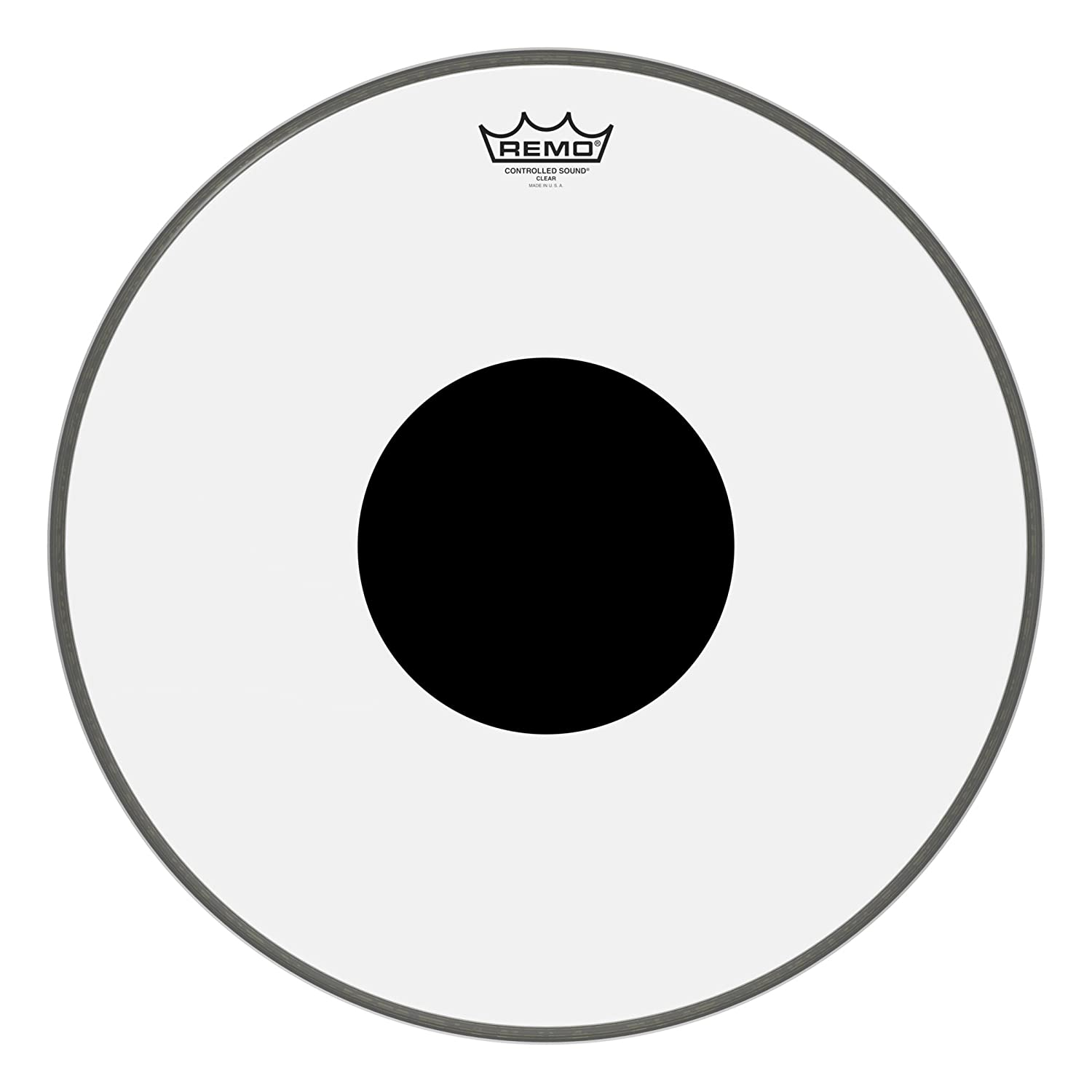 Remo Controlled Sound Clear Drum Head with Black Dot - 13 Inch KMC Music Inc CS0313-10 20131