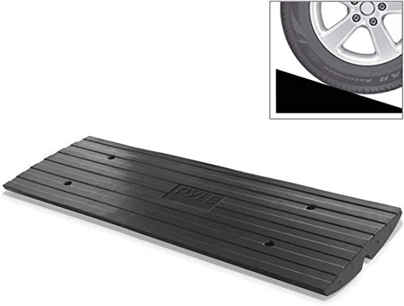 Car Driveway Curbside Bridge Ramp Heavy Duty Rubber Threshold Curb Ramp Used For Loading Dock Garage Sidewalk Truck Scooter Bike Motorcycle