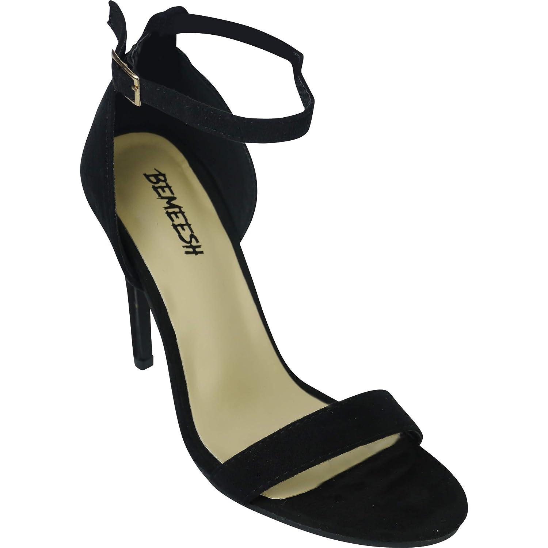 4a0b6fd964c9a5 BeMeesh Chaussures à Talons Hauts avec Sangle de Cheville Femme Bout Ouvert:  Amazon.fr: Chaussures et Sacs