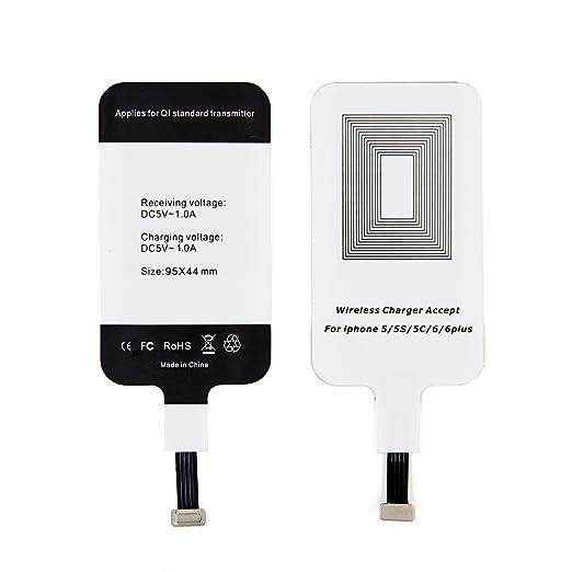 LEAPCOVER® Universal Alta Calidad QI Cargador Inalámbrico Receptor La Carga Rápida para Apple iPhone 6, iPhone 6s, iPhone 6 plus, iPhone 5, iPhone 5s, ...