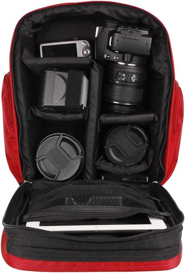DSLR SLR Green Camera Bag Digital Video Recorder Photography Backpack Protective with Shock Proof Insert for Sjcam