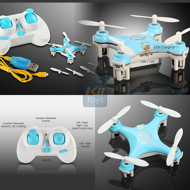 KiiToys Mini Drone Quadcopter X10 - Helicóptero teledirigido de ...