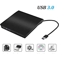 External CD Drive USB 3.0 Portable Slim External DVD Drive - Sonoka External DVD CD Drive RW Writer/Rewriter/Player High Speed Data Transfer Compatible Windows Macbook Pro Laptop/Desktops (Black)