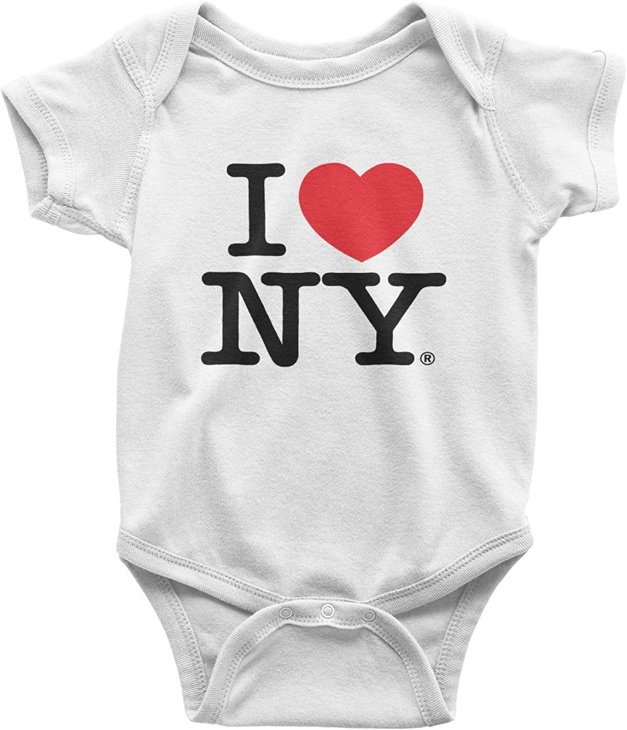 Baby Infant Romper I Love NY New York Long Sleeve Bodysuit Outfits Clothes White