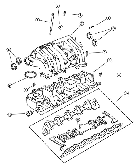 Amazon Com Mopar 5301 0047 Engine Coolant Thermostat Gasket