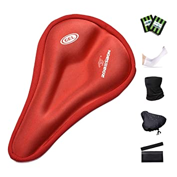 Red Silicone Bike Seat Cover 10 Pack Bicycle Cycling Padded Gel Cushion