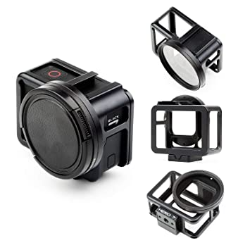 Shoot Carcasa Protectora de Aleación de Aluminio con Puerta Trasera para Gopro Hero 7 Black