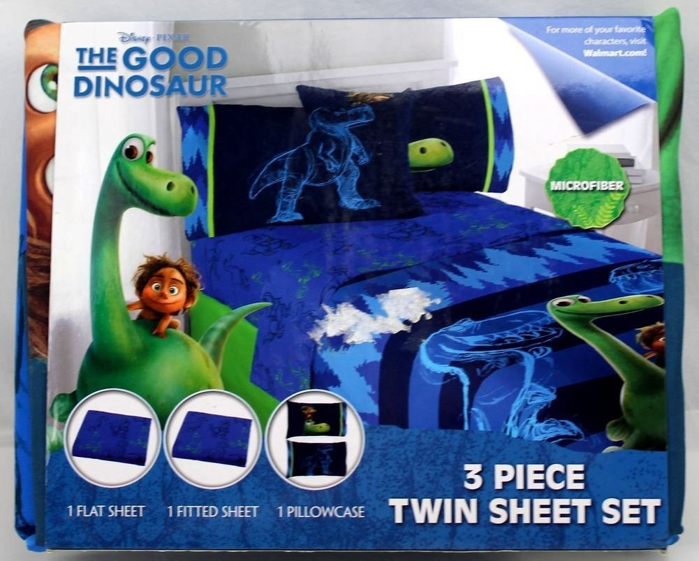 Disney Pixar Good Dinosaur Carnivore 3 Piece Microfiber Twin Sheet Set