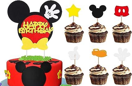 Amazon.com: BeYumi - Decoración para tarta de cumpleaños con ...