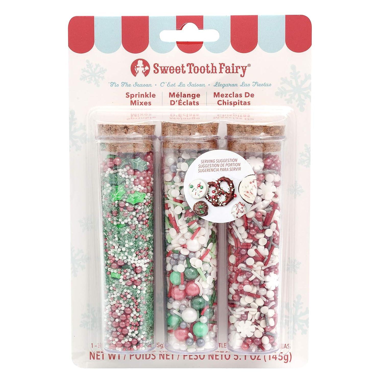 Amazon.com: Sweet Tooth Fairy 345529 Tis The Season Sprinkles, Multicolor