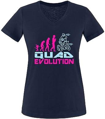EZYshirt® Quad Evolution Damen V-Neck T-Shirt
