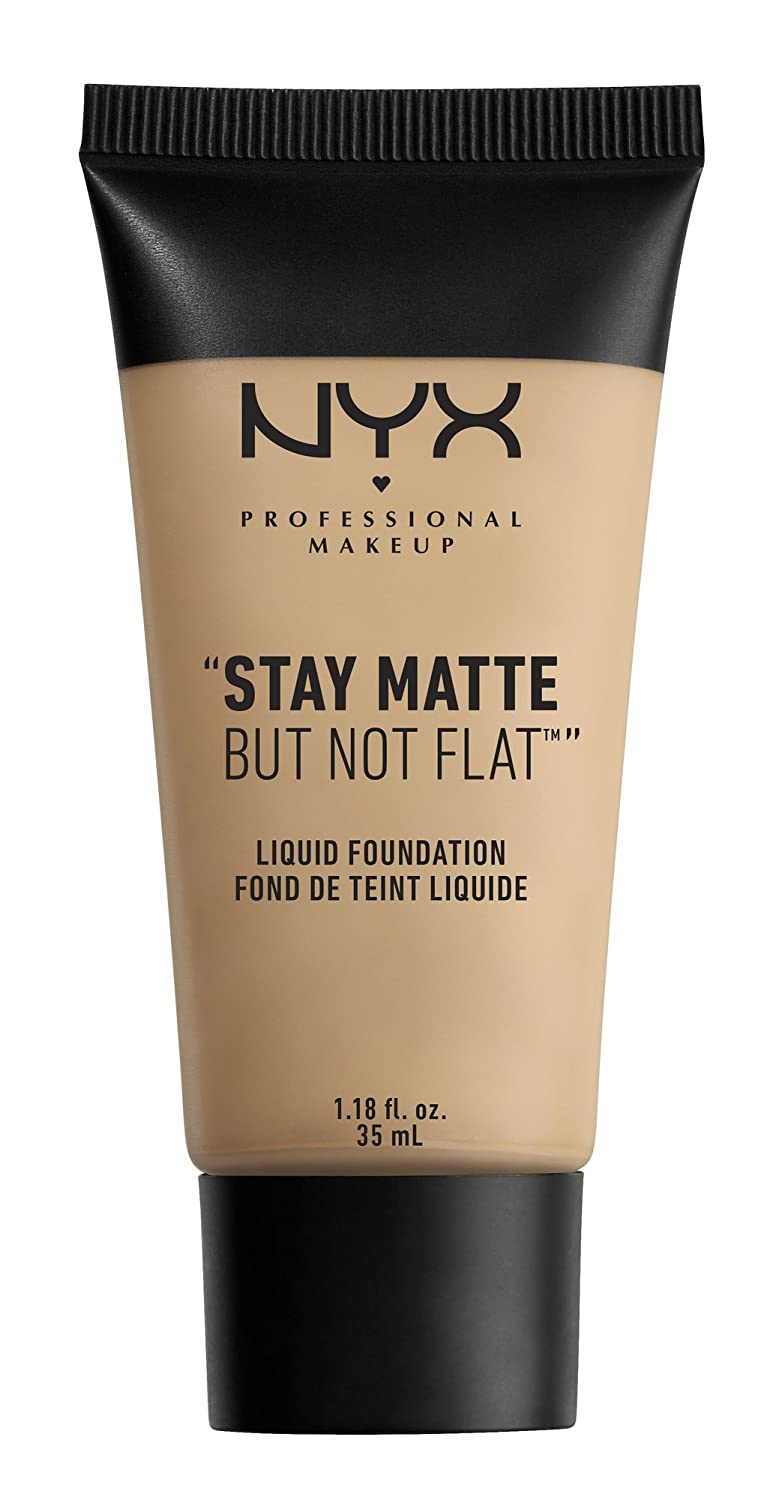 NYX PROFESSIONAL MAKEUP Stay Matte but not Flat Liquid Foundation, Nude, 1.18 Fluid Ounce 0800897813758