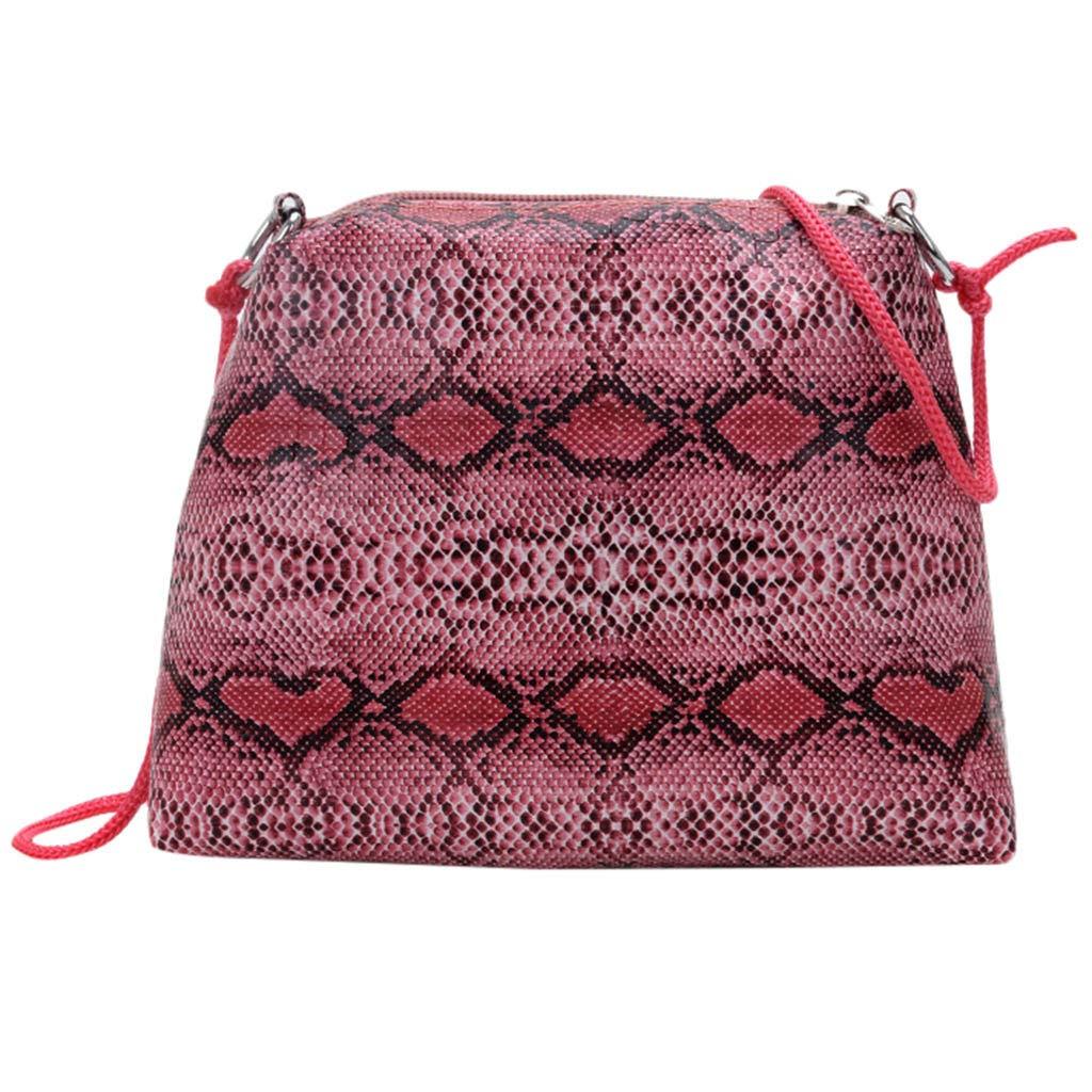 Severkill Women's Fashion Snake Pattern spaghetti strap Cross Body Package Multi-Function Shoulder Bag