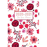 2020-2021 Two Year Planner: Flower Watecolor Cover | 2 Year Pocket Size Calendar 2020-2021 Monthly | 24 Months Agenda…
