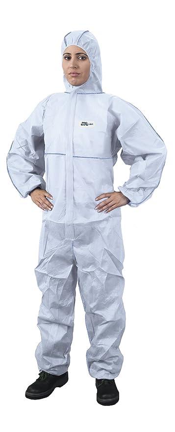 Traje de protección contra Multiusos para Trabajo con Productos químicos, anochecer, partículas nucleares, antiestático protección General categoría ...