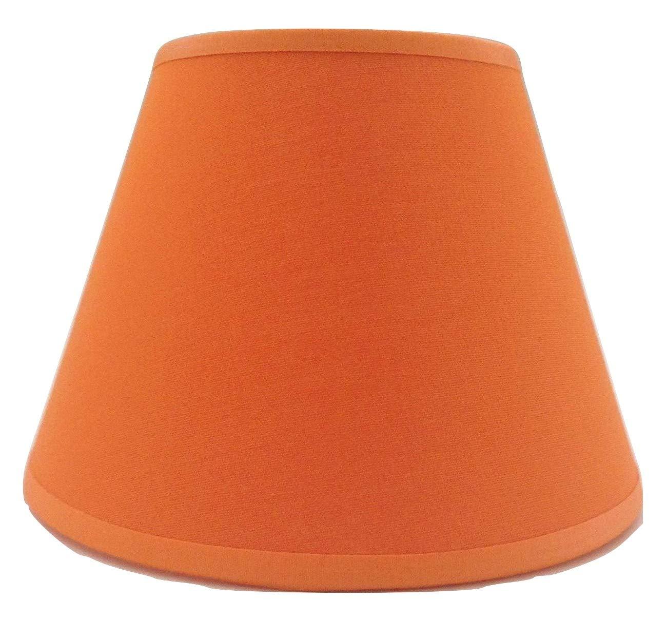 20, 3cm Orange Tissu de coton Abat-jour lumière Abat-jour Table fait à la main. ArG Lighting