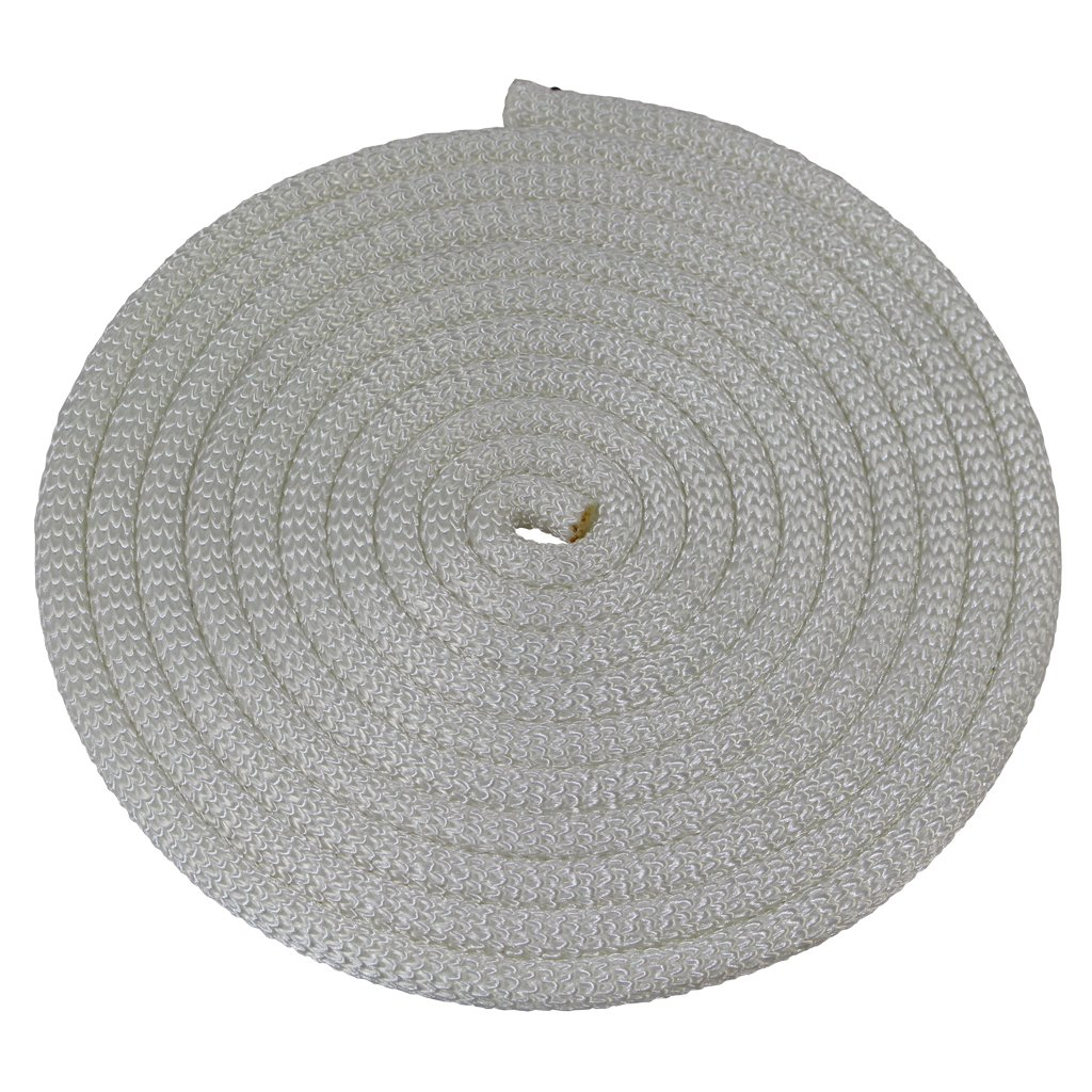 SGT KNOTS Dacron Polyester Utility Rope (3/16 inch) SuperSmooth Premium Cord - PolyDac Rope - for Mooring, Anchor Lines, Cargo Tie-Downs, DIY & Crafting Projects, More (100 feet - White)