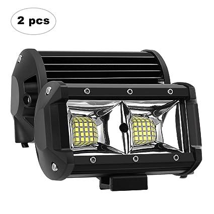 AAIWA Foco Led,Faro Luz 5 Inch 96W 2pcs, Focos LED de Trabajo,Luces Antiniebla IP67 Impermeable y Potente para Coche,Todoterreno ...