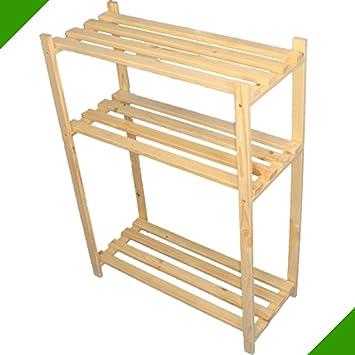Holzregale Baumarkt 90 cm x 65 cm x 28 cm 3 böden holzregal ideal für stiefel schuhregal