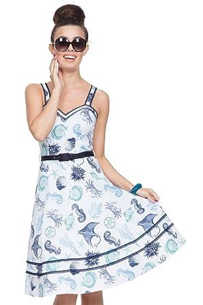 051cf6ce7d Image Unavailable. Image not available for. Colour  VOODOO VIXEN Nancy Sea Print  Dress