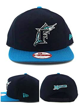 New Era Florida Marlins 9fifty Vintage Miami Street Blue Black Snapback Hat  Cap 5145e0ffe431