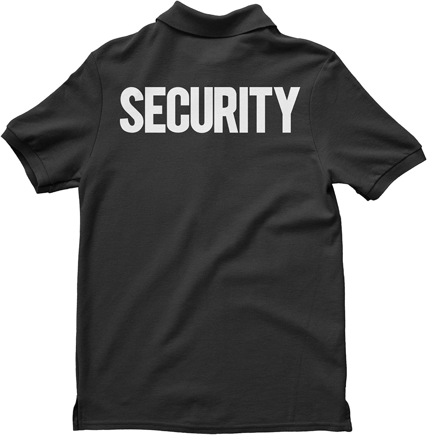 NYC FACTORY Security Polo Shirt Front Back Print Mens Tee Staff Event Uniform Bouncer Screen Printed