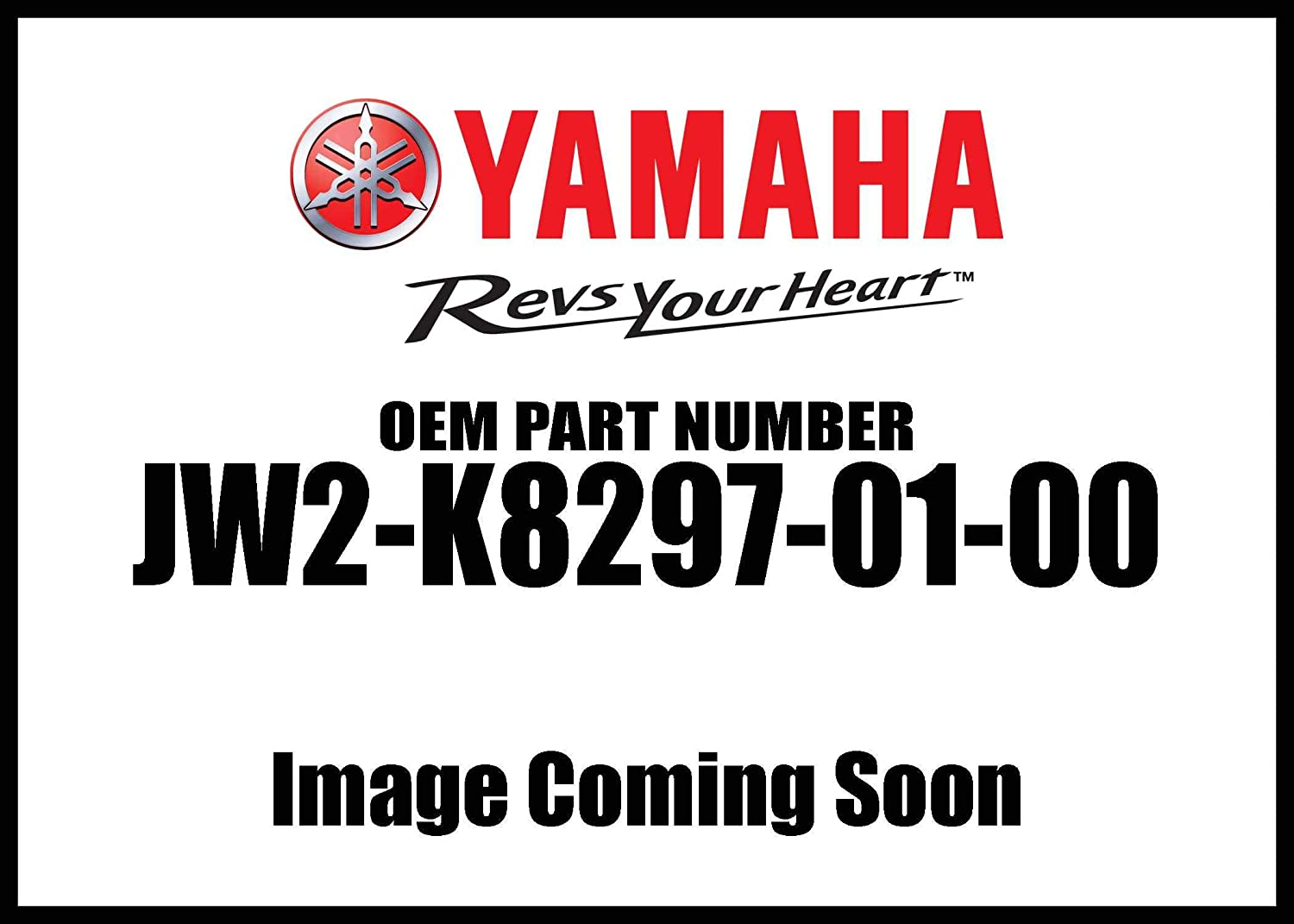 Caution 1; JW2K82970100 Made by Yamaha Yamaha JW2-K8297-01-00 Plate