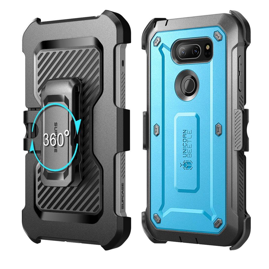 LG V30 Case, SUPCASE Full-body Rugged Holster Case with Built-in Screen Protector for LG V30, LG V30s,LG V35,LG V35 ThinQ,LG V30 Plus 2017 Release, Unicorn Beetle PRO Series(Blue/Gray) by SUPCASE (Image #7)