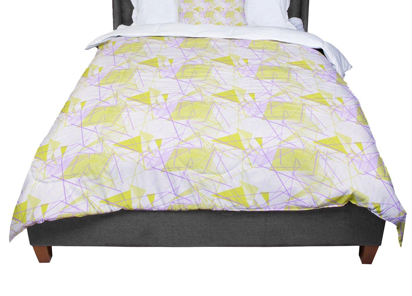 Cal King Comforter 104 X 88 KESS InHouse Alison Coxon Yellow King