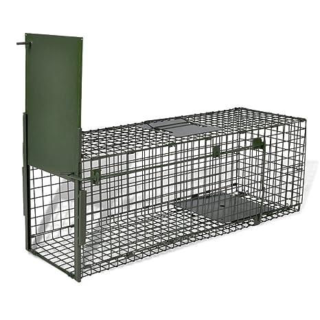 Festnight Trampa Juala para Animales Vivios Trampa de captura Trampa Ratas 1 puerta