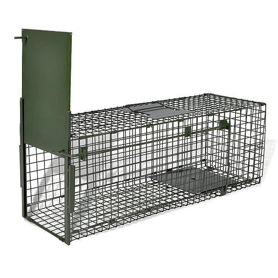 vidaXL Trampa para Animales Captura en Vivo 1 Puerta Alambre con Asa Jaula: Amazon.es: Productos para mascotas