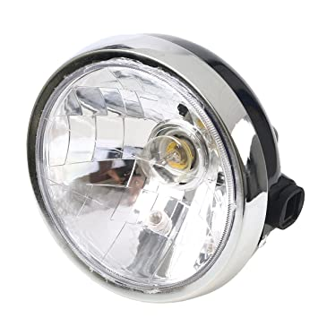 POSSBAY 7'' Motorbike Headlight Head Lamp for Yamaha YBR125 YBR 125  2002-2013