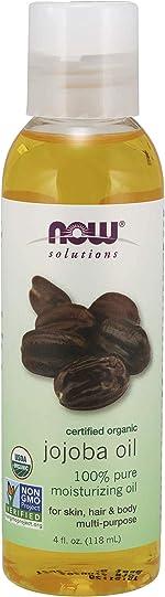 Now Solutions, Organic Jojoba Oil, Moisturizing Multi-Purpose Oil for Face, Hair