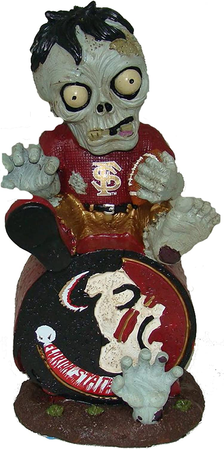 Forever Collectibles NCAA Zombie On Team Logo Figurine