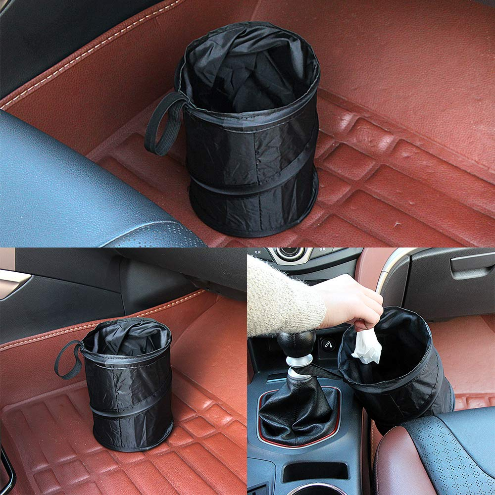 Outdoor TraderPlus 2 Pcs Collapsible Pop-up Car Garbage Bag Trash Can for Traveling