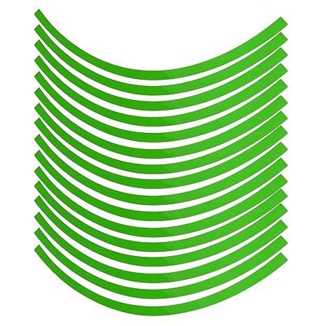 Vert foncé Pièces détachées auto Qiilu Autocollant Jante Pneu Bande réfléchissante 6 Color pour Moto Vélo Voiture