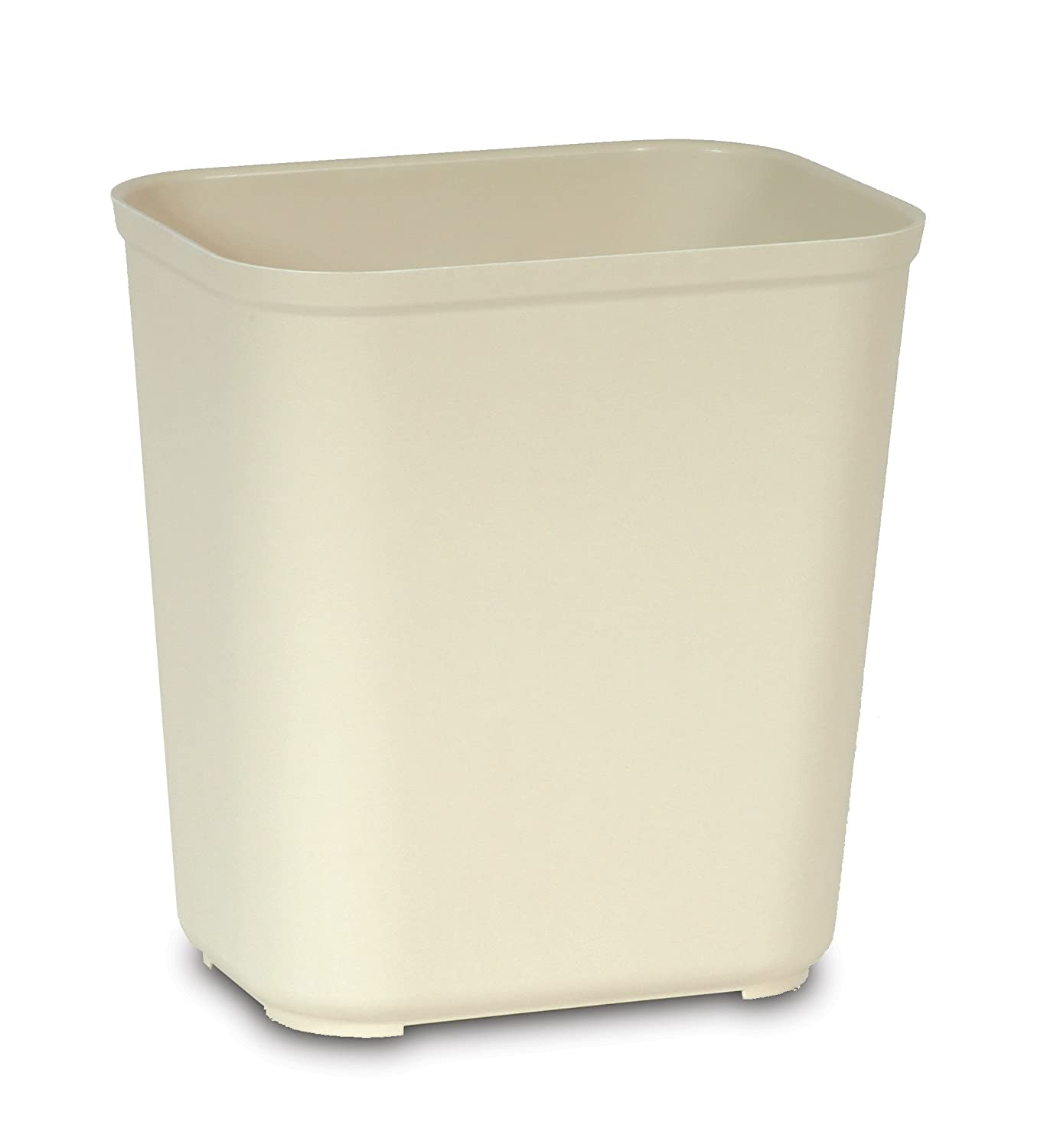 Rubbermaid Commercial Products FG254300BEIG Wastebasket, 28 quart, UL