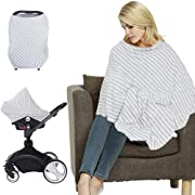 LifeTree Multi-Use Nursing Cover Poncho | Breastfeeding Cover | Shopping Cart Cover | Maternity Top | Baby Car Seat Cover Canopy