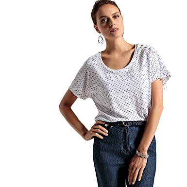 La Redoute Womens Printed Cotton T-Shirt at Amazon Women s Clothing store  c37bf56a5129