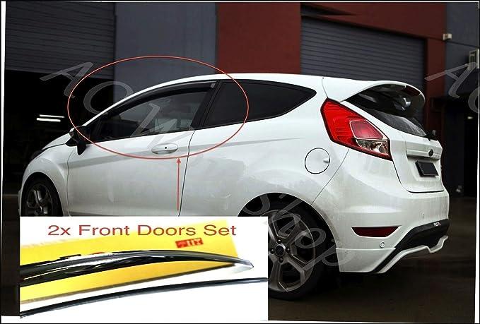 5-door hatchback Wind Deflectors Dark Smoke Tinted Acrylic Glass Door Side Windows WeatherShields Visors Rain Snow Sun Guards AC WOW 4x compatible with Polo 5 Mk5 VII 2009/–2017