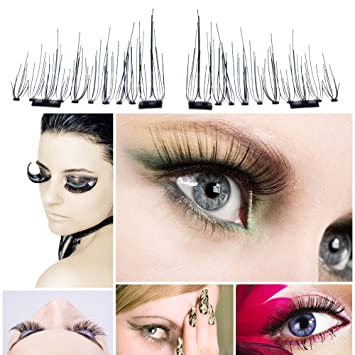 43605d1f8dd Image Unavailable. Image not available for. Color: Auwer New Ultra-thin  0.7mm Magnetic Eye Lashes 3D Fiber Reusable False Magnet Eyelashes