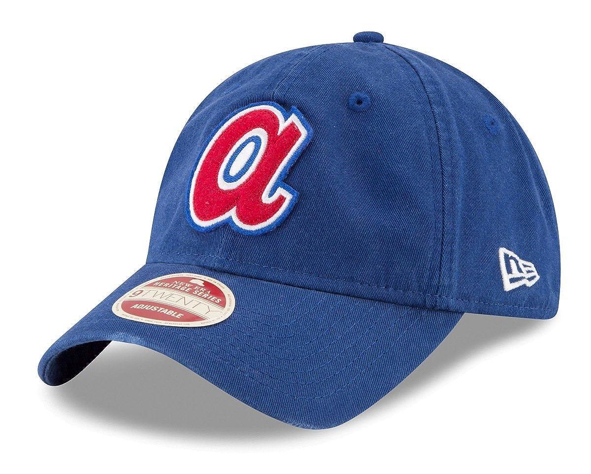 best website 44c0a e9dc9 Amazon.com   New Era Atlanta Braves MLB 9Twenty Cooperstown Rugged Patch  Adjustable Hat   Clothing
