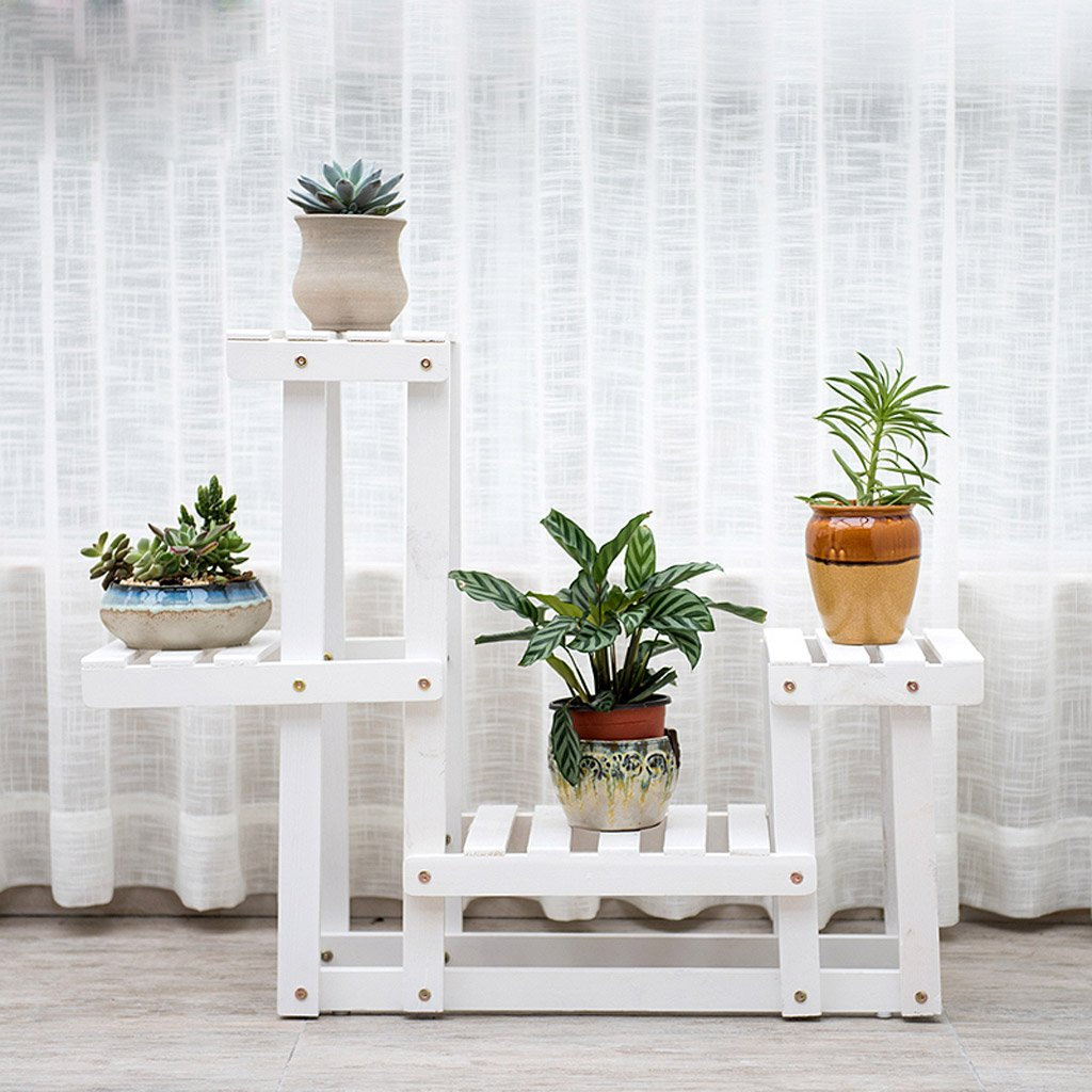 wei massivholz blumenst nder mehrst ckige boden blume bonsai holz blume regal balkon wohnzimmer. Black Bedroom Furniture Sets. Home Design Ideas
