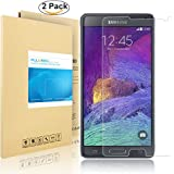 Galaxy Note 4 Screen Protector, PULESEN® [2-Pack] Samsung Galaxy Note 4 Tempered Glass Screen Protector [0.2mm, 9H] HD Clear / Anti-Bubble Premium Glass Screen Protector for Note 4 - Lifetime Warranty