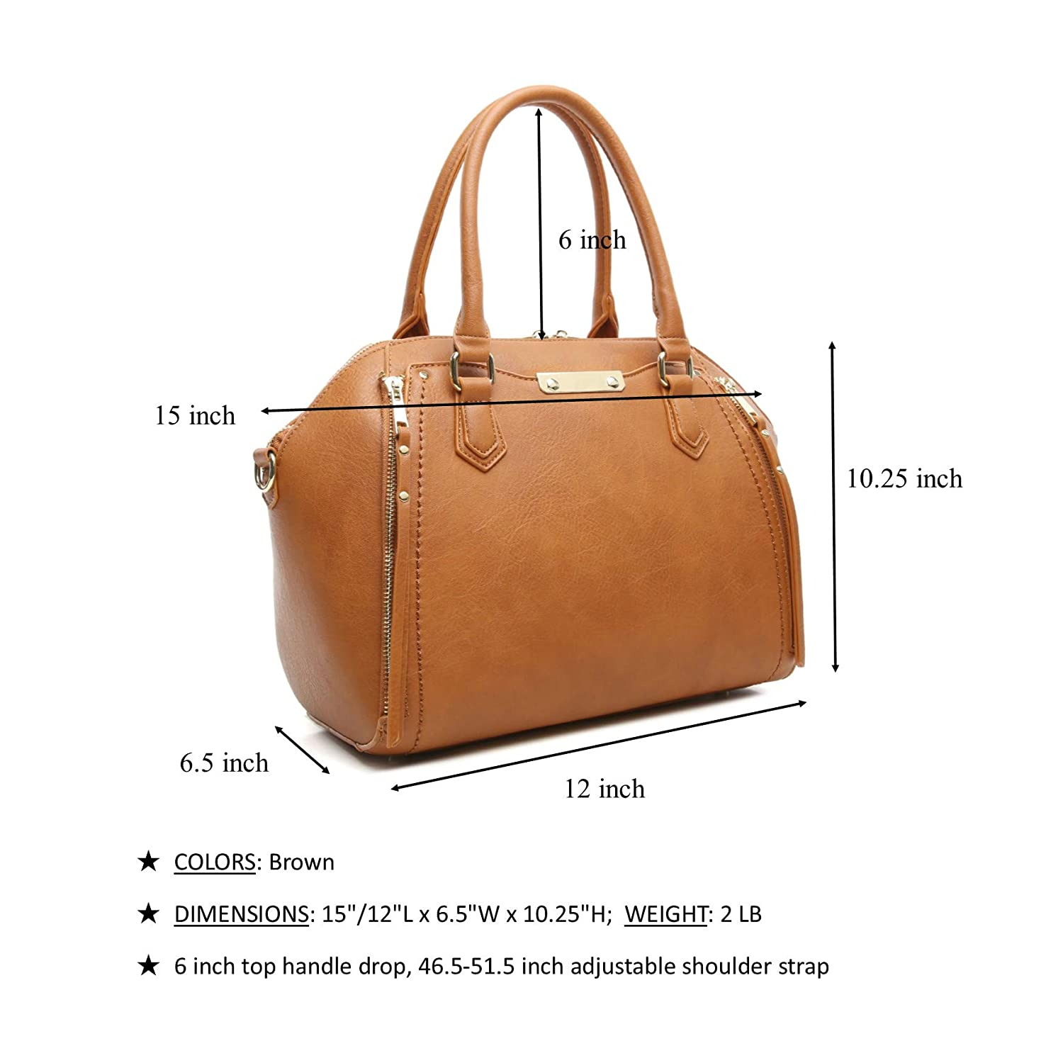 202b7c8cc7 Amazon.com  Aitbags Purses and Handbags for Women Tote with Shoulder Strap  Big Crossbody Bag Brown  Shoes