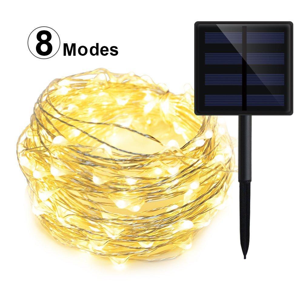 Geekhom Solar-Lichterkette für den Außenbereich, wasserdicht, warm ...