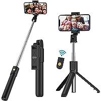 Gritin Selfie Stick, statyw 3 w 1 Bluetooth, wyciągany i przenośny kij do selfie z odpinanym bezprzewodowym pilotem i…