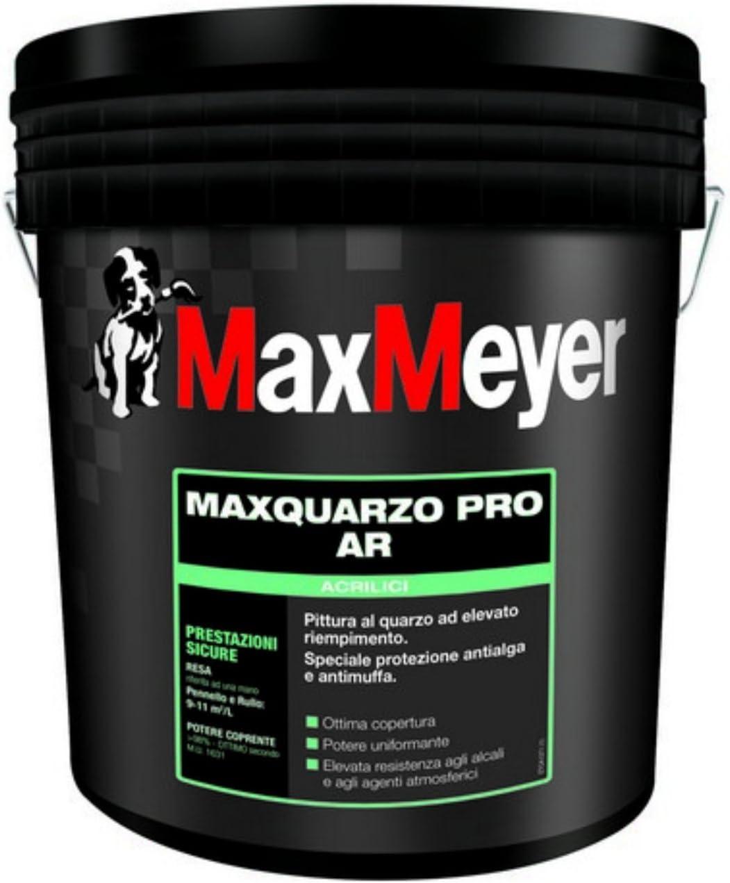 Maxquarzo Pro Ar Pittura Al Quarzo Ad Alto Riempimento Bianco Per Esterno Lt 14 Max Meyer Amazon It Fai Da Te