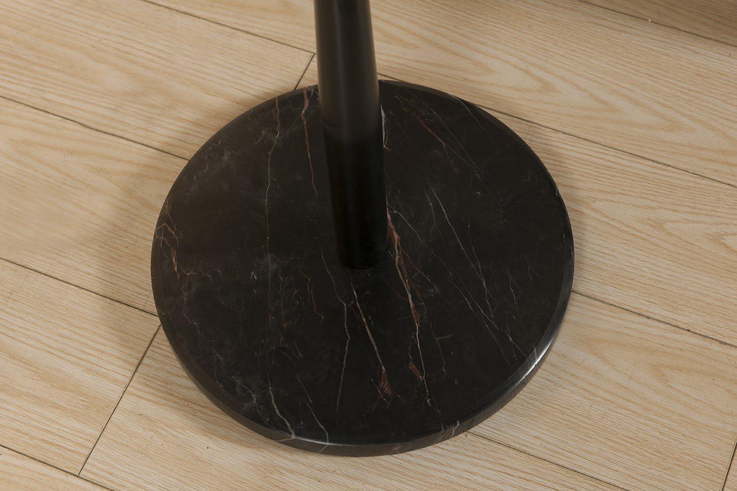 Kings Brand Black Walnut With Marble Base Hall Tree Coat Hat Rack